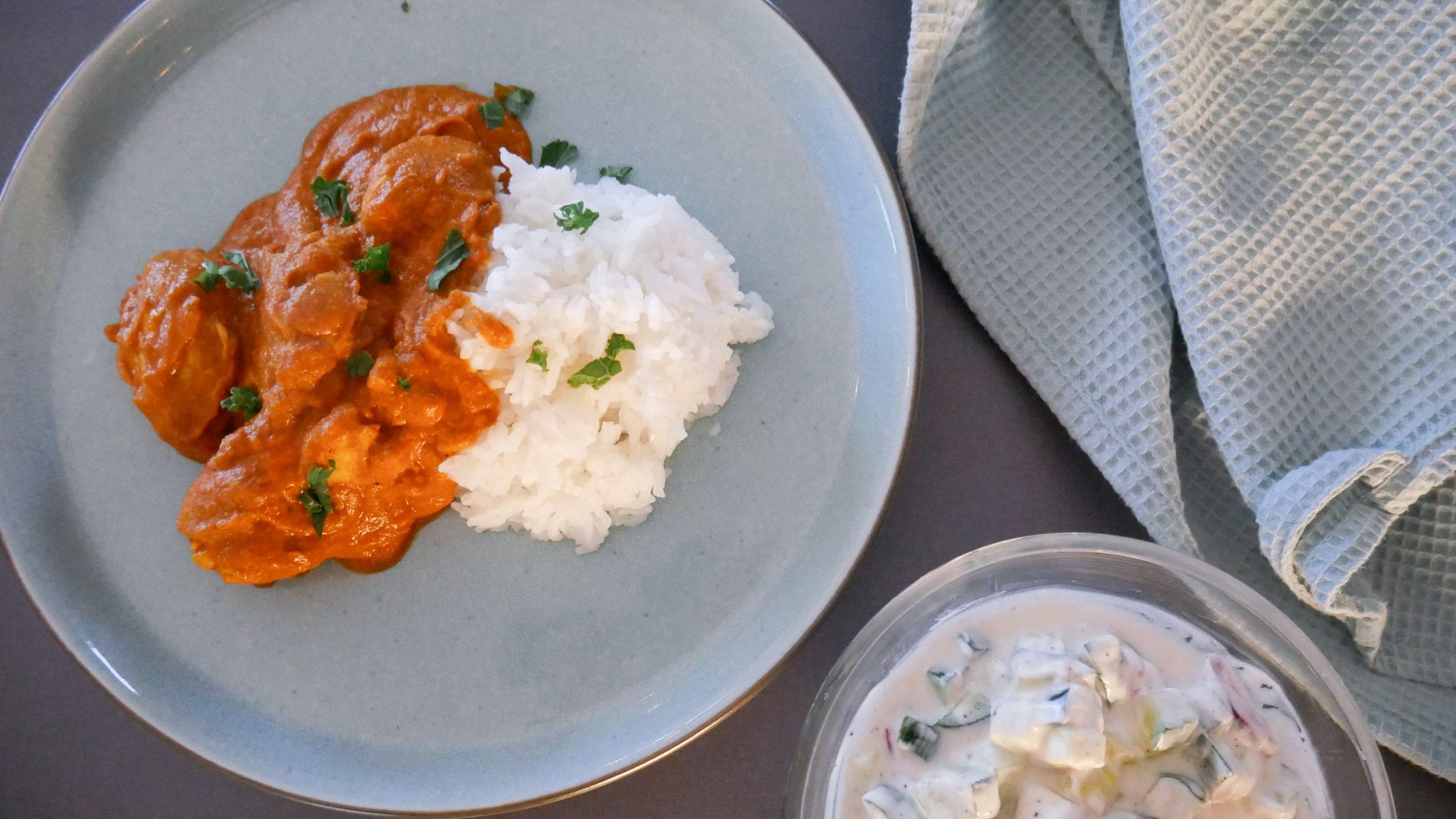 Kremet og mild indisk kylling