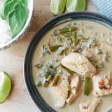 Eksotisk thai. grønn kylling karri