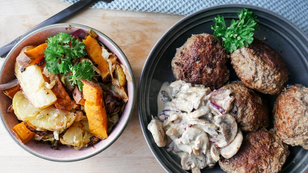 Mors kjøttkaker med rotgrønnsaker