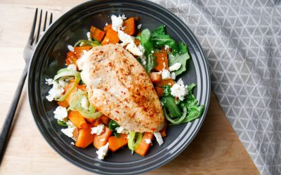 Lun kylling og søtpotet salat