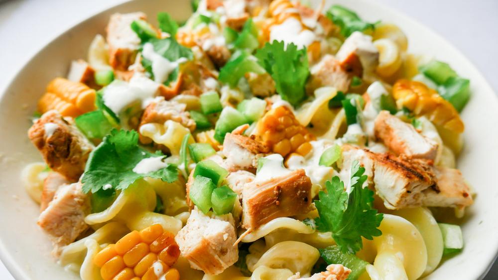 Mexikansk mais og cajun kylling s